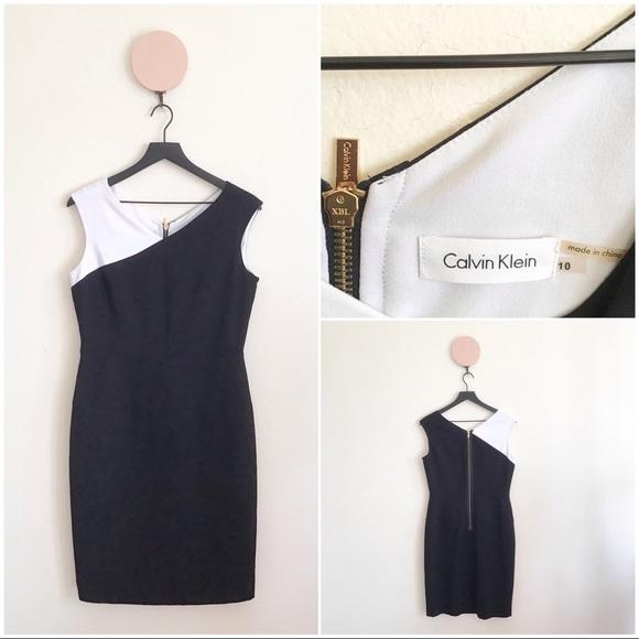 62675057fa63e Calvin Klein Dresses   Black And White Dress   Poshmark